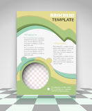 Yellow and green creative flyer design Stock Image