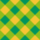 Yellow Green Diamond Chessboard Background Stock Images