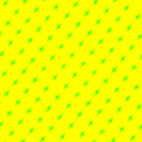 Yellow with Green Diamonds Stock Photography