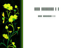 Yellow-green flowers card. Royalty Free Stock Image