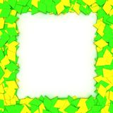 Yellow-green frame Royalty Free Stock Photo