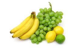 Yellow-green fruits still-life Stock Images
