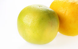Yellow and green grapefruit Royalty Free Stock Photography