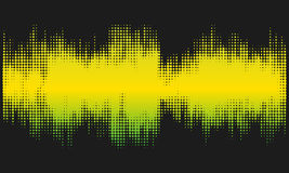 Yellow and green halftone abstract design background in the form of wave. Vector art Royalty Free Stock Photography