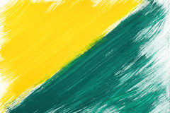 Yellow-green hand-painted gouache stroke daub texture. Yellow-green abstract hand-painted gouache brush stroke daub background texture Royalty Free Stock Photos