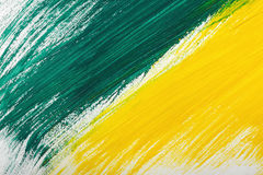 Yellow-green hand-painted gouache stroke daub texture. Yellow-green abstract hand-painted gouache brush stroke daub background texture Royalty Free Stock Images
