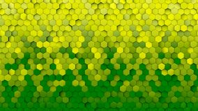 Yellow and green hexagons royalty free illustration