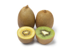 Yellow and green kiwi fruit Royalty Free Stock Photography