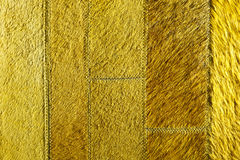 Yellow-green leather patchwork Stock Image