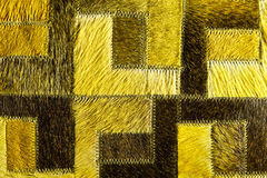 Yellow-green leather patchwork Royalty Free Stock Photos