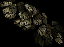 Yellow and green leaves autumn abstract fractal effect light background Royalty Free Stock Photo