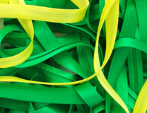 Yellow and green lines. Lines of different colors. Abstract Composition Stock Illustration