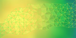 Yellow Green Low Poly Vector Background Stock Images
