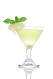 Yellow green martini Mojito Cocktail drink Stock Photo