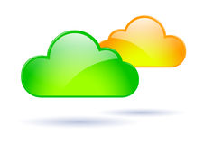 Yellow and Green Modern Clouds Royalty Free Stock Image