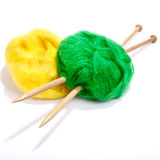 Yellow and Green Mohair Stock Images