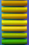Yellow and green neon tubes Stock Photography