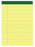 Yellow and green notepad Royalty Free Stock Photos
