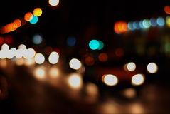 Yellow Green and Orange Lights Royalty Free Stock Images
