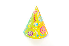 Yellow green party hat Royalty Free Stock Photo
