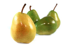 Yellow and Green pears Stock Photos