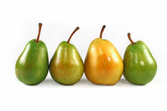 Yellow and Green pears Stock Photo
