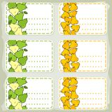 Yellow and green pears sticker set Stock Photography