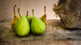 Yellow and green pears Royalty Free Stock Photos