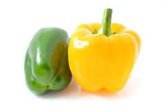 Yellow and green pepper Stock Photography