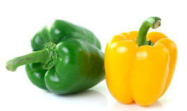 Yellow green pepper on white background Stock Photo