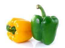 Yellow green pepper on white background Stock Image