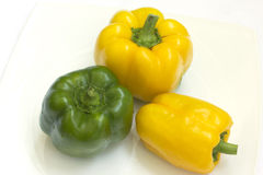 Yellow, and green peppers Royalty Free Stock Photo