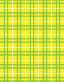Yellow and green plaid fabric Royalty Free Stock Photos
