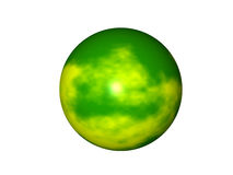 Yellow Green Planet Royalty Free Stock Images