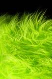 Yellow green plush fabric on black background horizontal Royalty Free Stock Photos