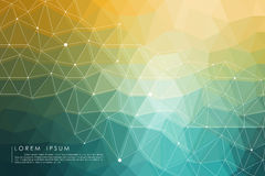 Yellow and green polygon abstract background. Vector Royalty Free Stock Photo