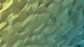 Yellow green polygonal background loop stock video footage