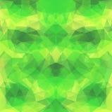Yellow-Green Polygonal Vector Background Stock Photos