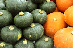 Yellow and green Pumpkin Royalty Free Stock Images