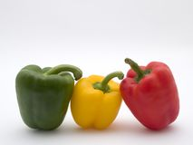 Yellow green and red. Pepper royalty free stock image