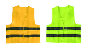 Yellow and green safety vest isolated Stock Images