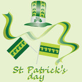 Yellow-green set for St. Patrick`s Day. Vector design elements set. Festival st patrick day icons shamrock lucky spring. happy cel Royalty Free Stock Photography