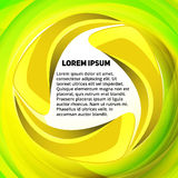 Yellow-green spin text layout Royalty Free Stock Photos