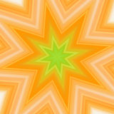 Yellow-green splash star Royalty Free Stock Photo