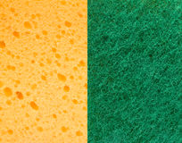 Yellow and green sponge Stock Photo