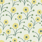 Yellow green spring flowers Royalty Free Stock Images