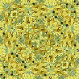 Yellow and green squares mosaic background stock illustration