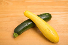 Yellow and Green Squash Royalty Free Stock Photography