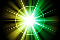 Yellow Green Star Sunburst Abstract Royalty Free Stock Photography