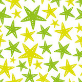 Yellow and green starfish fish simple seamless pattern eps10 Royalty Free Stock Images